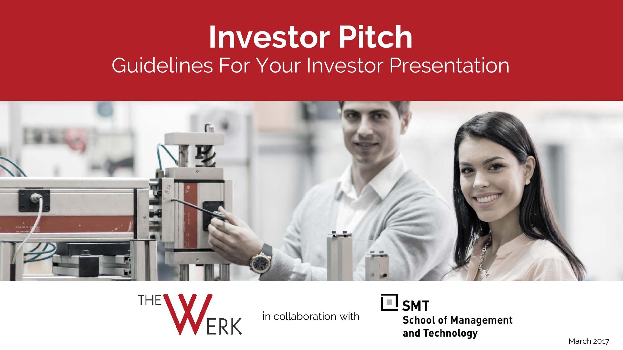 Investor Pitch. Guidelines for your investor presentation – Peter Gräser, GEC